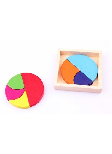 4'lü Ahşap Dairesel Bulmaca Paketi-Learning Toys